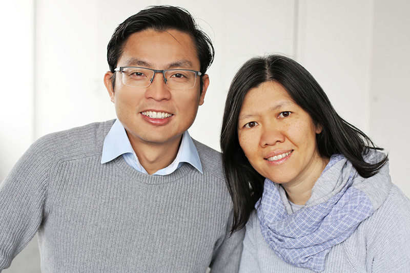 Portrait of a Malaysian couple, church leaders in Munich